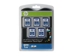 HP 5GB (1GB x 5) Secure Digital (SD) 5-PK Flash Card