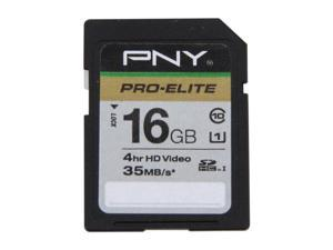 PNY 16GB Secure Digital High-Capacity (SDHC) Flash Card Model P-SDH16U1-GES3