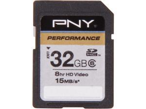 PNY Performance 32GB Secure Digital High-Capacity (SDHC) Flash Card Model P-SDHC32G6-GE