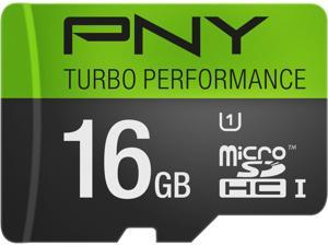 PNY 16GB Turbo microSDHC UHS-I/U1 Class 10 Memory Card without Adapter, Speed Up to 90MB/s (P-SDU16GU190G-GE)