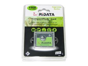 RiDATA Pro 4GB Compact Flash (CF) Flash Card Model CFR4G-SILV