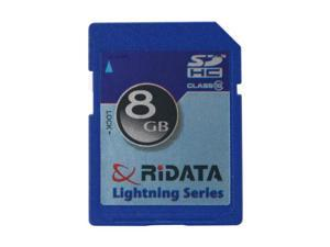 RiDATA Lightning Series 8GB Secure Digital High-Capacity (SDHC) Flash Card