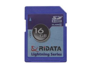 RiDATA Lightning Series 16GB Secure Digital High-Capacity (SDHC) Flash Card
