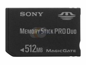 SONY 512MB Memory Stick Pro Duo (MS Pro Duo) Flash Card Model MSX-M512S
