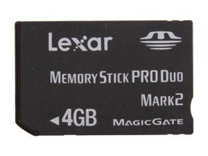 Lexar Platinum II 4GB Memory Stick Pro Duo (MS Pro Duo) Flash Card Model LMSPD4GBBSBNA