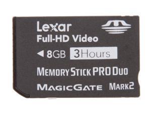 Lexar 8GB Memory Stick Pro Duo (MS Pro Duo) Full-HD Video Memory Card Model LMSPD8GBFSBNAHD