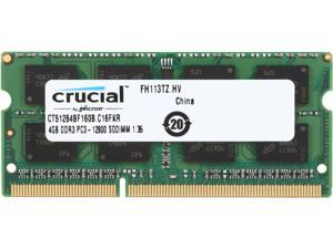 Crucial 4GB 204-Pin DDR3 SO-DIMM DDR3L 1600 (PC3L 12800) Laptop Memory Model CT51264BF160B