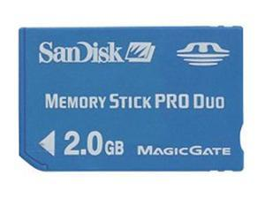 SanDisk 2GB Memory Stick Pro Duo (MS Pro Duo) Flash Card Model SDMSPD-2048-A11