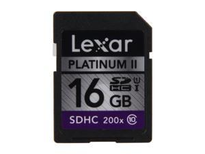Lexar Platinum II 16GB Secure Digital High-Capacity (SDHC) Flash Card Model LSD16GBSBNA200