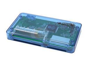 BYTECC U2CR-417 52-in-1 USB 2.0 Palm-sized Clear Blue Card Reader
