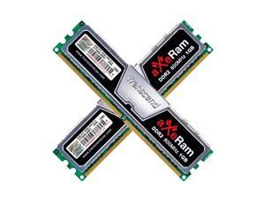 Transcend AxeRAM 2GB (2 x 1GB) 240-Pin DDR2 SDRAM DDR2 800 (PC2 6400) Dual Channel Kit Desktop Memory