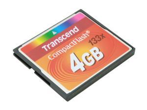 Transcend 4GB Compact Flash (CF) Flash Card Model TS4GCF133