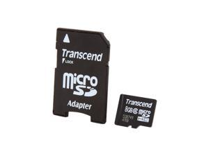 Transcend 8GB microSDHC Flash Card Model TS8GUSDHC6