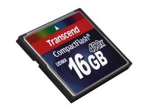 Transcend 16GB Compact Flash (CF) 400X Flash Card Model TS16GCF400