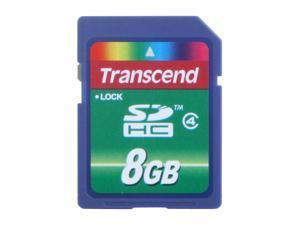 Transcend 8GB Secure Digital High-Capacity (SDHC) Flash Card Model TS8GSDHC4