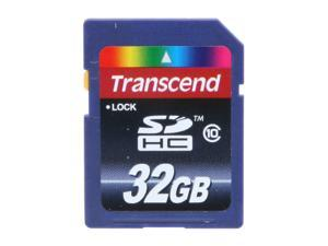 Transcend 32GB Secure Digital High-Capacity (SDHC) Flash Card Model TS32GSDHC10