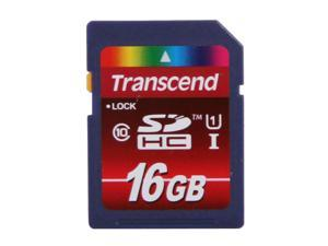 Transcend 16GB Secure Digital High-Capacity (SDHC) UHS-I Flash Memory Card Model TS16GSDHC10U1