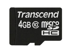 Transcend 4 GB MicroSD High Capacity (microSDHC) - 1 Card