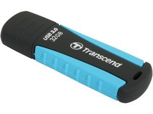 Transcend JetFlash 810 32 GB USB 3.0 Flash Drive - Black, Blue, Green