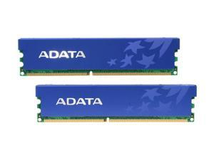 ADATA 1GB (2 x 512MB) 184-Pin DDR SDRAM DDR 400 (PC 3200) Desktop Memory Model AD1U400A512M3-DRH