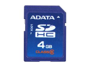 ADATA 4GB Secure Digital High-Capacity (SDHC) Flash Card Model TurboSD SDHC 4G