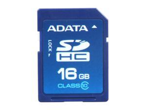 ADATA Turbo Series 16GB Secure Digital High-Capacity (SDHC) Flash Card Model ASDH16GCL10-R