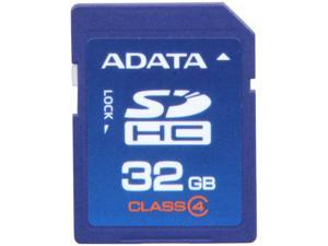 ADATA 32GB Class 4 Secure Digital High-Capacity (SDHC) Flash Card Model ASDH32GCL4-R