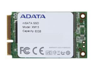 ADATA XM13 AXM13S2-60GM-C 60GB Mini-SATA (mSATA) MLC Internal Solid State Drive (SSD)