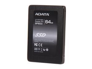 "ADATA Premier Pro SP600 ASP600S3-64GM-C 2.5"" 64GB SATA III MLC Internal Solid State Drive (SSD)"