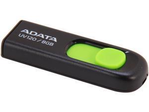 ADATA DashDrive UV120 8GB Capless Sliding USB 2.0 Flash Drive (Black/Green)