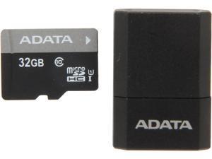 ADATA Premier 32GB microSDHC Class 10 Flash Card with MicroReader Model AUSDH32GUICL10-RM3BKBL