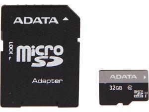 ADATA Premier 32GB microSDHC Class 10 Flash Card with Adapter Model AUSDH32GUICL10-RA1