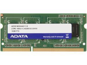 ADATA 4GB 204-Pin DDR3 SO-DIMM DDR3 1600 (PC3 12800) Laptop Memory Model AD3S1600W4G11-S