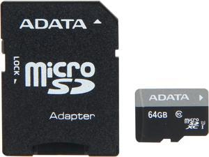 ADATA Premier 64GB microSDHC/SDXC UHS-I U1 Memory Card with One Adapter (AUSDX64GUICL10-RA1)