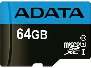 ADATA 64GB Premier microSDXC UHS-I / Class 10 Memory Card without Adapter, Speed Up to 85MB/s (AUSDX64GUICL10 85-R)