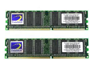 TwinMOS 1GB (2 x 512MB) 184-Pin DDR SDRAM DDR 400 (PC 3200) Dual Channel Kit Desktop Memory