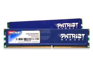 Patriot Signature Series 1GB (2 x 512MB) 184-Pin DDR SDRAM DDR 400 (PC 3200) Dual Channel Kit System Memory