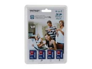 Patriot 4GB (1GB x 4) Secure Digital (SD) Flash Card Model PSF1G40SD4PK