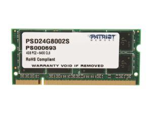 Patriot Signature 4GB 200-Pin DDR2 SO-DIMM DDR2 800 (PC2 6400) Laptop Memory