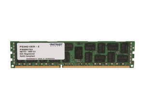 Patriot Signature 4GB 240-Pin DDR3 SDRAM ECC Registered DDR3 1333 (PC3 10600) Server Memory Model PS34G13ER-E