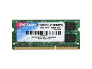 Patriot Signature 2GB 204-Pin DDR3 SO-DIMM DDR3 1333 (PC3 10600) Laptop Memory Model PSD32G13332S