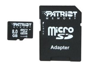 Patriot LX Series 8GB microSDHC Flash Card Model PSF8GMCSDHC10