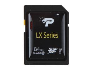 Patriot LX Series 64GB Class 10 Secure Digital Extended Capacity (SDXC) Flash Card Model PSF64GSDXC10