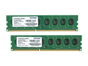 Patriot Signature 8GB (2 x 4GB) 240-Pin DDR3 SDRAM DDR3 1600 (PC3 12800) Desktop Memory