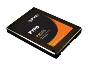 "Patriot Pyro PP240GS25SSDR 2.5"" 240GB SATA III MLC Internal Solid State Drive (SSD)"