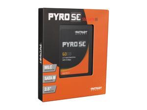 "Patriot Pyro SE PPSE60GS25SSDR 2.5"" MLC Internal Solid State Drive (SSD)"