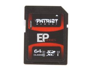Patriot EP Series 64GB Class 10 Secure Digital High-Capacity (SDHC) Flash Card Model PEF64GSHC10233