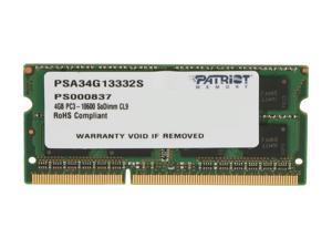 Patriot Memory Signature Apple Line 4GB 204-Pin DDR3 SO-DIMM DDR3 1333 (PC3 10600) Memory for Apple Model PSA34G13332S