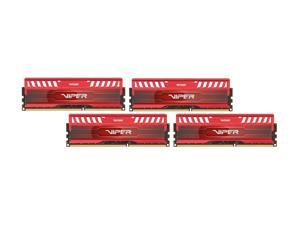 Patriot Viper 3 16GB (4 x 4GB) 240-Pin DDR3 SDRAM DDR3 1600 (PC3 12800) Desktop Memory Model PV316G160C9QKRD