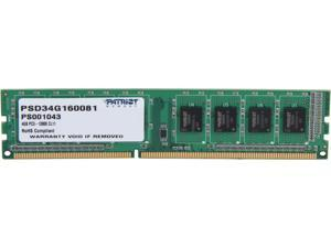 Patriot 4GB 240-Pin DDR3 SDRAM DDR3 1600 (PC3 12800) Desktop Memory Model PSD34G160081